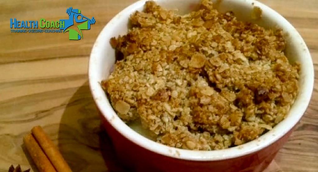 Een gezond toetje: havermout fruit crumble