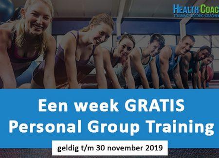 Start nu met 1 week gratis Personal Group Training