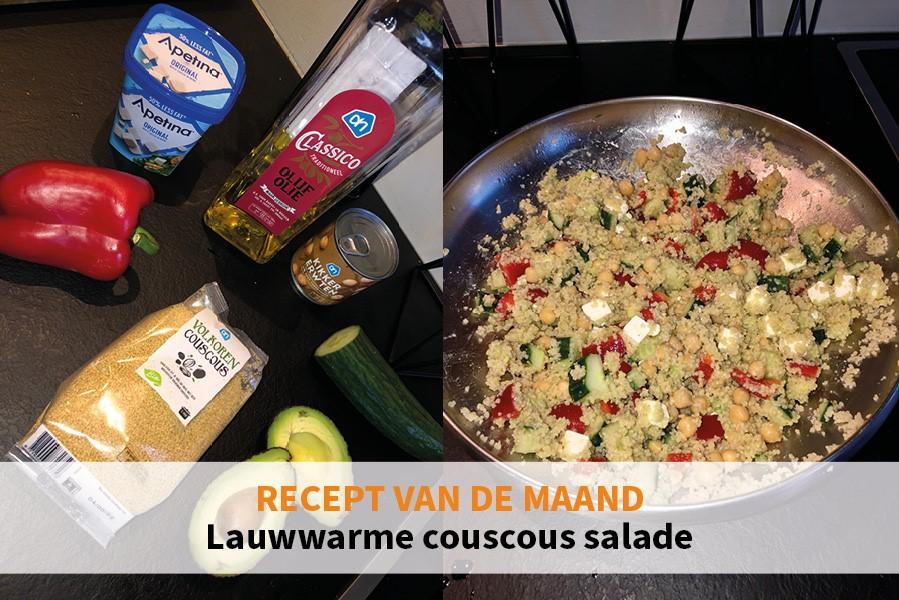 Frisse lauwwarme couscous salade